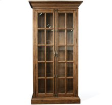 Hawthorne Display Cabinet Barnwood finish
