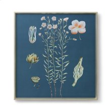Auer Framed Silk Panel, Blue, Green, Pink
