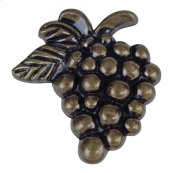 Vineyard Grapes Knob 2 Inch - Burnished Bronze