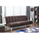 Contemporary Brown and Chrome Sofa Bed Product Image