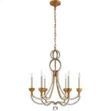 Visual Comfort NW5030VG Niermann Weeks Milan 6 Light 29 inch Venetian Gold Chandelier Ceiling Light, Niermann Weeks, Medium, Clear Crystal