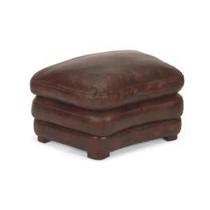 FLEXSTEELHOMEDylan Leather Cocktail Ottoman without Nailhead Trim
