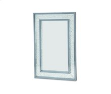 Montreal Rect Wall Decor Crystal Framed Mirror