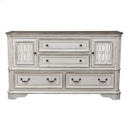 2 Mirrored Door 4 Drawer Dresser Product Image