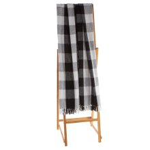 Black & White Buffalo Plaid Throw.