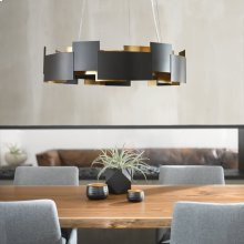 """Moderne 26.5"""" LED Chandelier Olde Bronze®"""