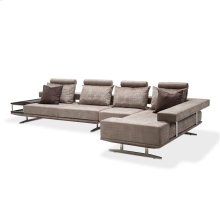 21 Cosmopolitan 3pc Lsf Sectional Set Stainless Steel