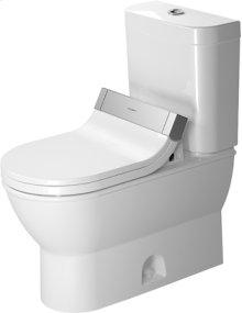 White Two-piece Toilet, Water Saving 6-liter Flush