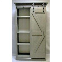 """#605 Barn Door Bookcase 44.5""""wx17.5""""dx79""""h"""