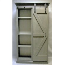 "#605 Barn Door Bookcase 44.5""wx17.5""dx79""h"