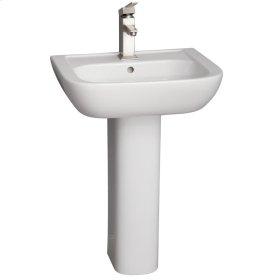 Caroline 550 Pedestal Lavatory - White