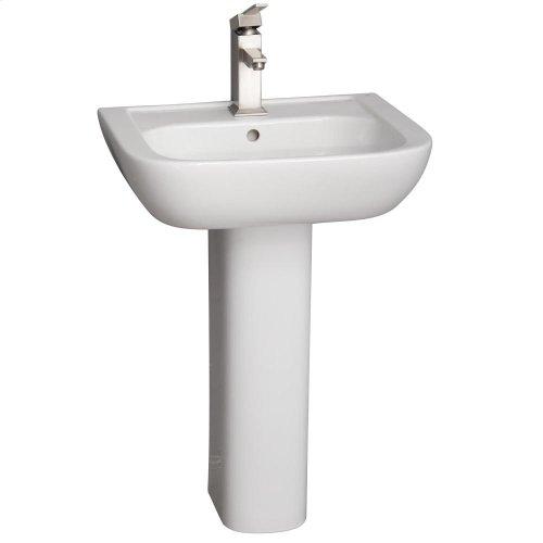 Caroline 450 Pedestal Lavatory - White