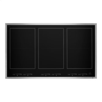 """36"""" Lustre Stainless Induction Flex Cooktop, Stainless Steel"""