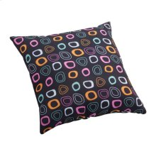 Kitten Small Outdoor Pillow Chocolate Base And Multicolor Pattern