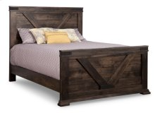Chattanooga Double Bed with 32'' High Footboard