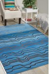 CONTOUR CON04 AZU RECTANGLE RUG 8' x 10'6''