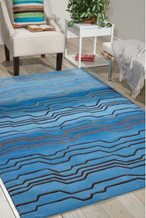 Contour Con04 Azu Rectangle Rug 5' X 7'6''