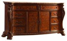 Luxor Cherry Dresser - 74''L x 20''D x 40''H