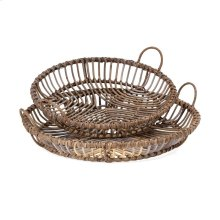 Neutro Rattan Trays - Set of 2