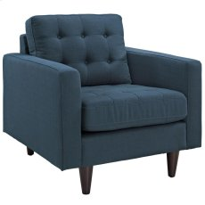 Empress Upholstered Armchair in Azure Product Image