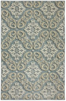 Findon Bay Blue Rectangle 3ft 6in X 5ft 6in