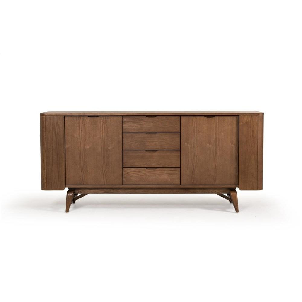 Modrest Fallon Modern Walnut Buffet