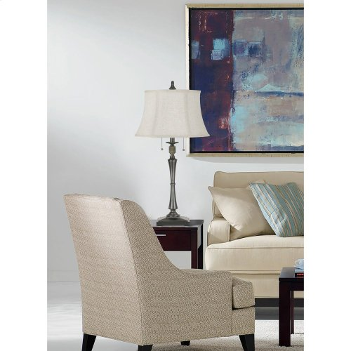 150W 3 Way Madison Metal Swing Arm Table Lamp With SofTBack Fabric Shade