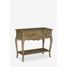 (LS) Sausalito Cabriole Leg Vintage Console Table with 2 Drawers and Pull Out Shelf..(33x16x28)