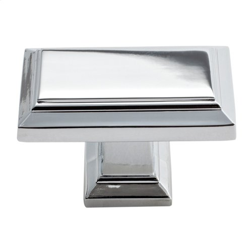 Sutton Place Rectangle Knob 1 7/16 Inch - Polished Chrome