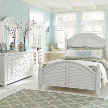 Queen Poster Bed, Dresser & Mirror, N/S