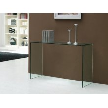 The Casetta Clear Console Table