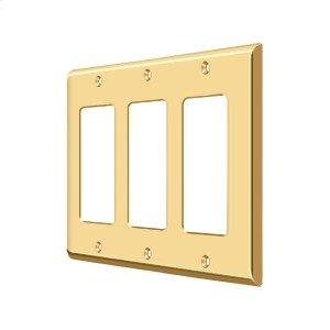 Switch Plate, Triple Rocker - PVD Polished Brass Product Image