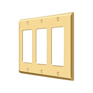 Switch Plate, Triple Rocker - PVD Polished Brass Product Image