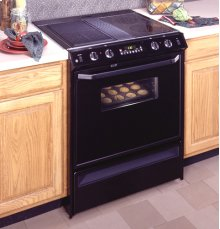 "GE® 30"" Slide-In Downdraft Range"