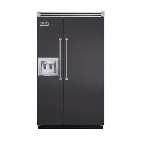 "Graphite Gray 48"" Quiet Cool™ Side-by-Side with dispenser - VISB Tru-Flush™ (48"" wide)"