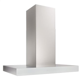 Ispira 36-in. 600 CFM Stainless Steel Island Range Hood with PURLED Light System and White Glass