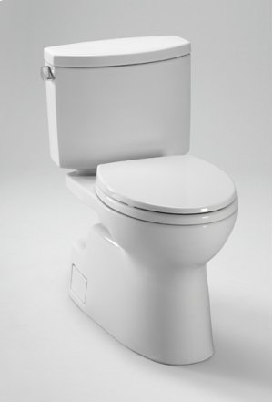 Cotton Vespin® II Two-Piece High-Efficiency Toilet, with SanaGloss, 1.28GPF