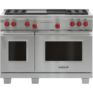"Wolf48"" Dual Fuel Range - 4 Burners, Infrared Charbroiler and Infrared Griddle"