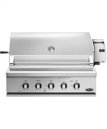 """36"""" Traditional Grill With Rotisserie, Griddle and Hybrid Ir Burner"""