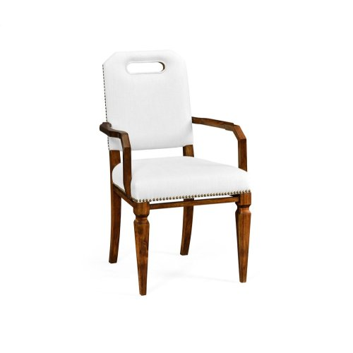 Contemporary Camden Dining Armchair, Upholstered in COM