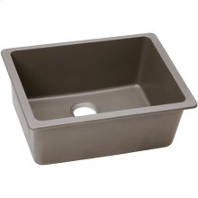 "Elkay Quartz Classic 24-5/8"" x 18-1/2"" x 9-1/2"", Single Bowl Undermount Sink, Greige"