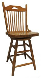 "24"" Farmhouse Swivel Barstool Product Image"