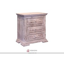 Terra Antique White 3 Drawer Nightstand