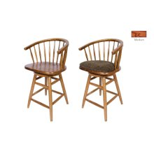 Hoop Back Solid Oak Barstool