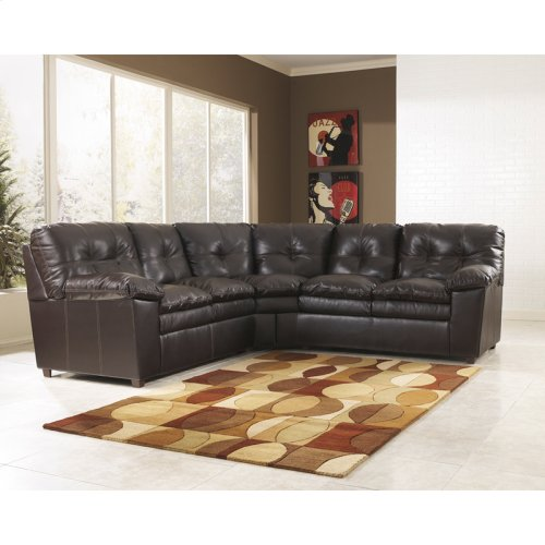 Signature Design by Ashley Jordon Sectional in Java DuraBlend