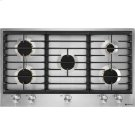 """36"""" 5-Burner Gas Cooktop, Stainless Steel Product Image"""