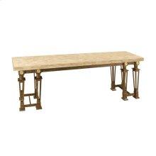 BLACK IRON CONSOLE TABLE