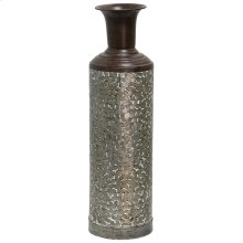 Galvanized  6in Dia. X 24in Ht. Metal Vase