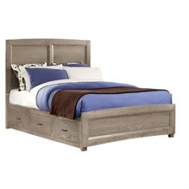 Panel Bed with Storage (Full)