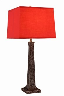 1 Light Table Lamp with Metal Resin Body & Black Finish
